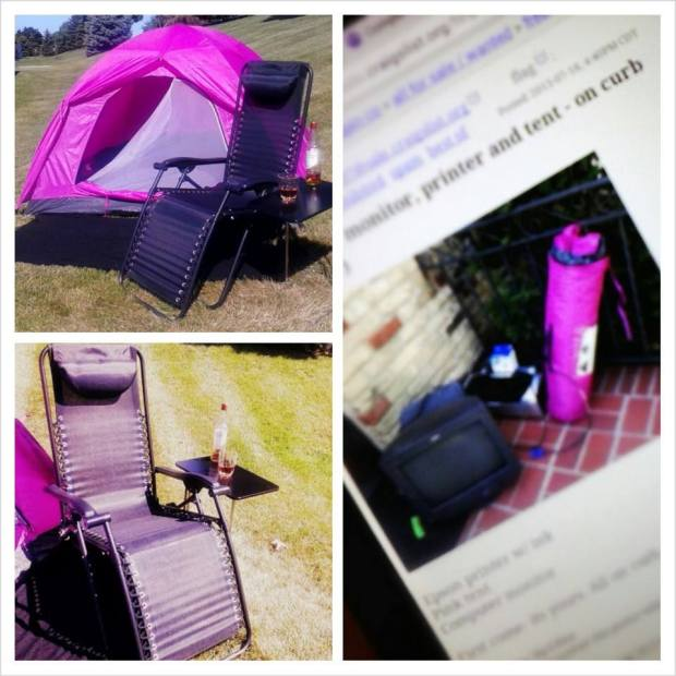 pink tent col