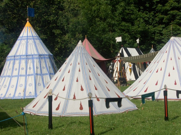 Example of painted tents